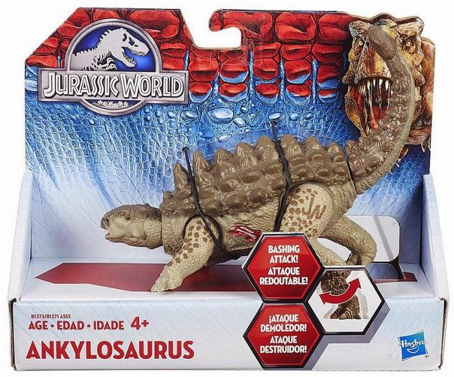 JUGUETES - JURASSIC WORLD  Ankylosaurus | Dinosaurio | Figura - Muñeco  Producto Oficial Película 2015 | Hasbro B1273 | A partir de 4 años