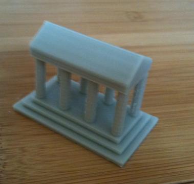 How To Build Greek Temple Model
