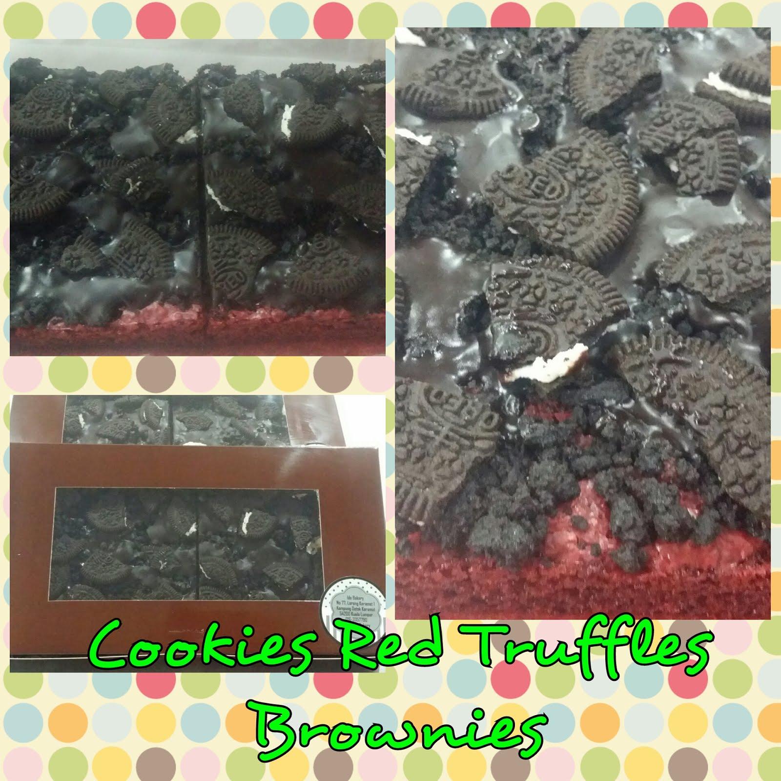 Kelas DIY Cookies Red Truffler Brownies RM200