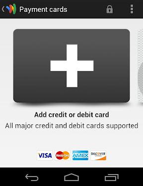 Ecran Google Wallet