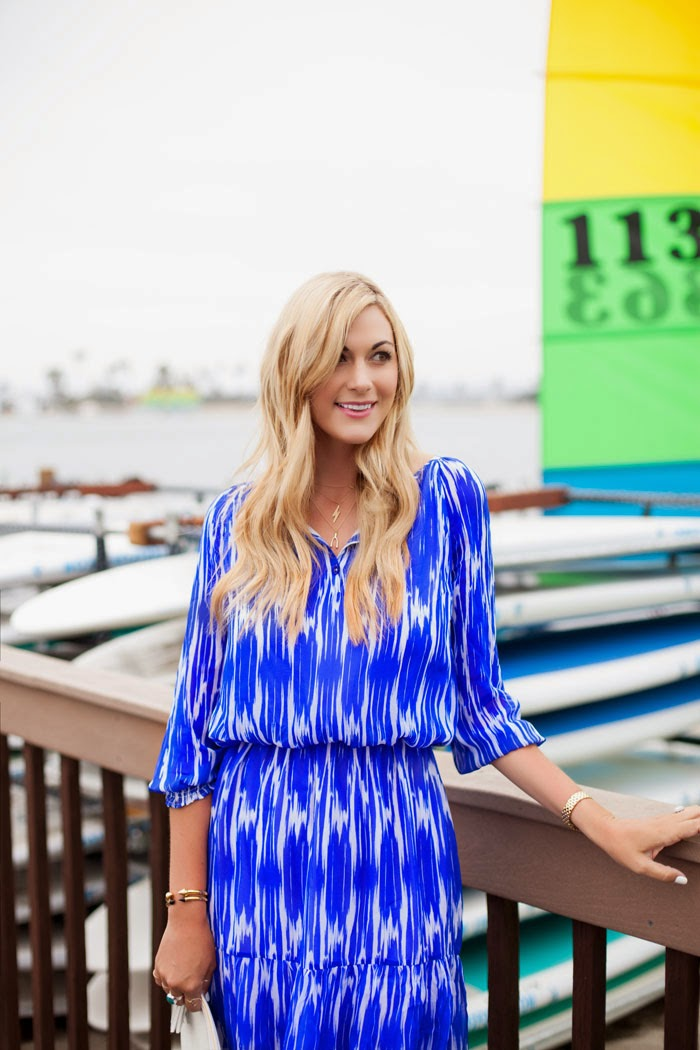 Ikat, East Lake, May, Dress, Blue, Silk, Shoshanna, White, Snake Skin, Uber, Clutch, Gigi New York, ShoeMint, Suede, Stacked, Ankle-Strap, Heels, JewelMint, Layered, Wishbone, Lightning Bolt, Necklace, San Diego, Beach, Wharf, Boats, Caitlin Lindquist, A Little Dash of Darling, Fashion Blog, Blogger, Lifestyle Blog, Street Style, Photographer, Arizona, San Diego, Catamaran, PB, Pacific Beach, Phoenix, Scottsdale