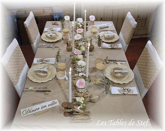 d coration de la table by les tables d coratives de stef. Black Bedroom Furniture Sets. Home Design Ideas