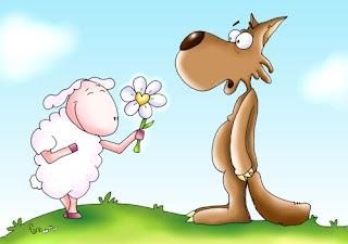 Un mundo donde aún entre los animales haya paz. Donde el lobo no haga daño a la oveja, ni la serpiente muerda a un niño; donde los animales carnívoros coman pasto...