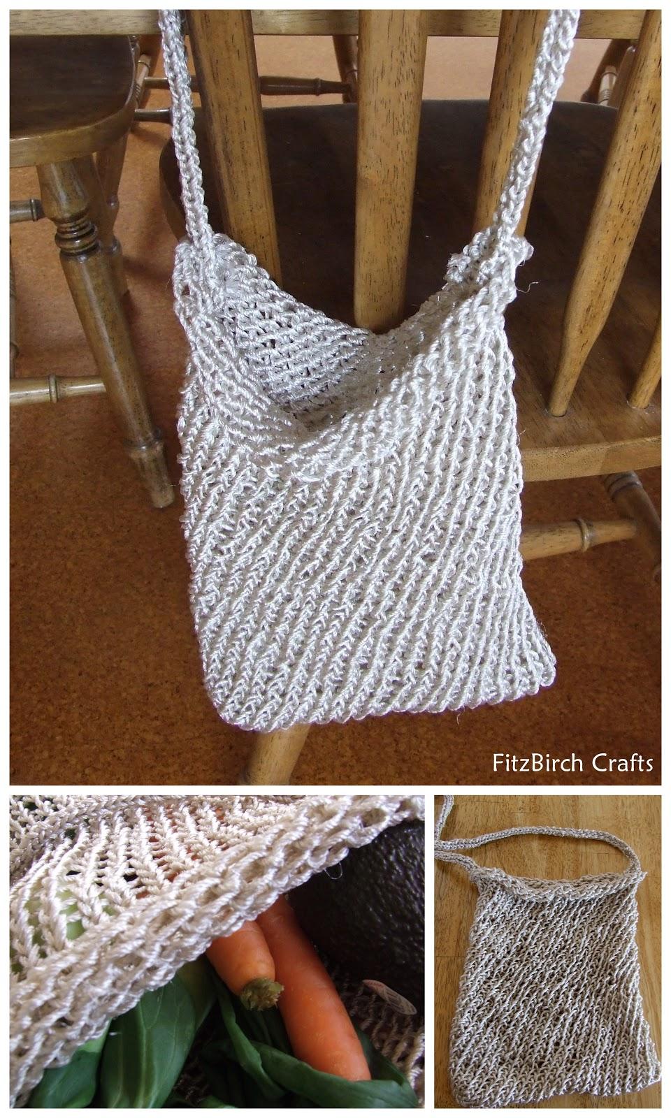 FitzBirch Crafts: Loom Knit Market bag