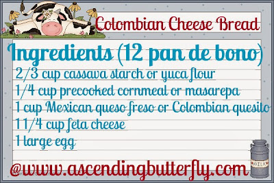 Columbian Cheese Bread Recipe Ingredients List English