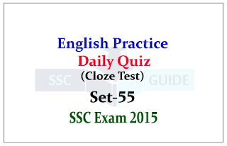 SSC CGL Mains-Practice English Questions (Cloze Test)