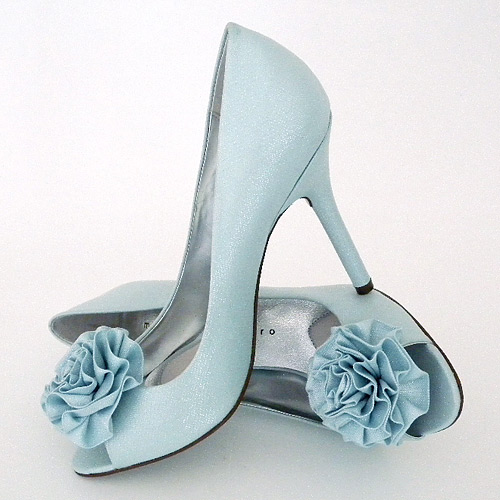 elegant bridal style tiffany blue wedding shoes