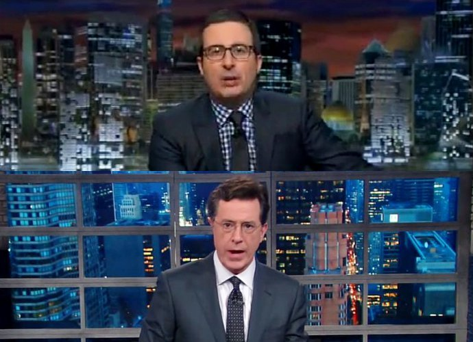 John Oliver and Stephan Colbert