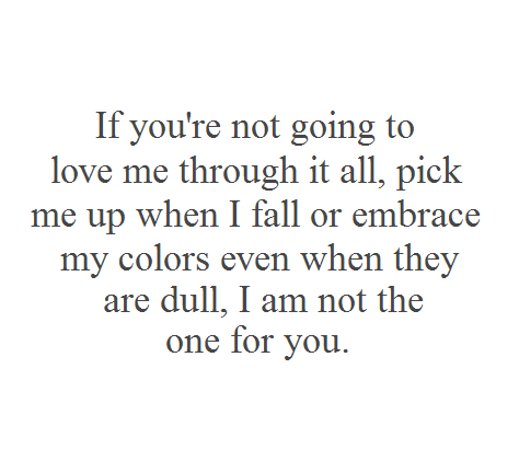I am not the one for you image quote