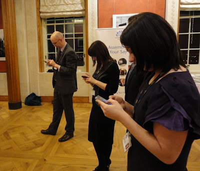 NI Assembly Engagement Team adopting the team pose as they tweet their event!