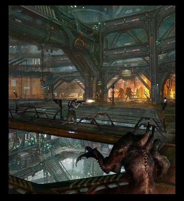 Hugo Martin ilustrações arte conceitual filmes games fantasia ficção científica Ambientes