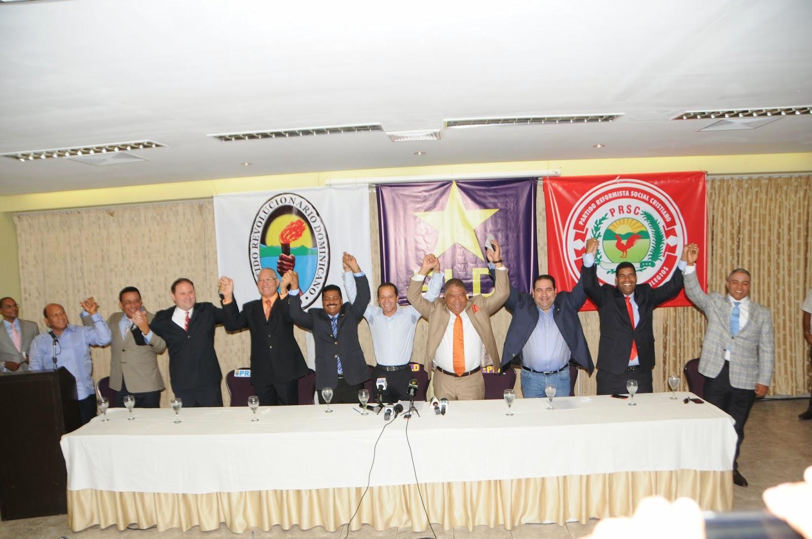 PLD, PRD y PRSC firman pacto por la democracia y gobernabilidad municipal
