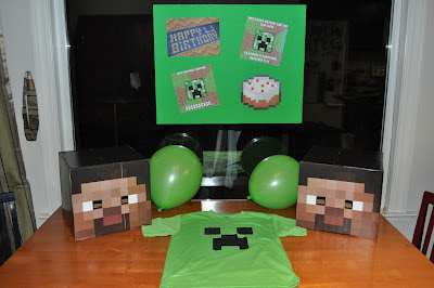 Minecraft plates and cups i glued a minecraft face on the cups for the