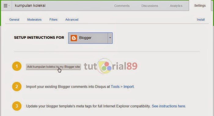 Cara praktis menambah komentar disqus pada blog