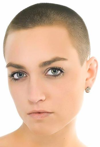 Beautiful girls with shaved head!