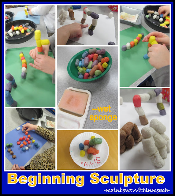 photo of: Beginning Sculpture in Preschool, Art Project for Building