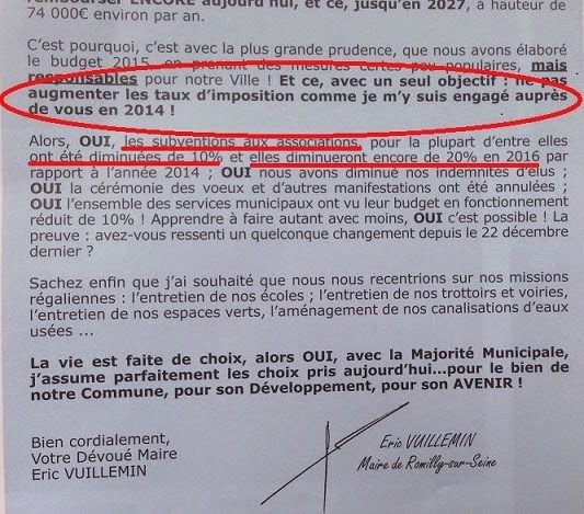Romilly sur seine romi scope not 39 maire persiste et signe for Action romilly