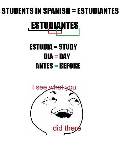 Students In Spanish - I See What You Did There