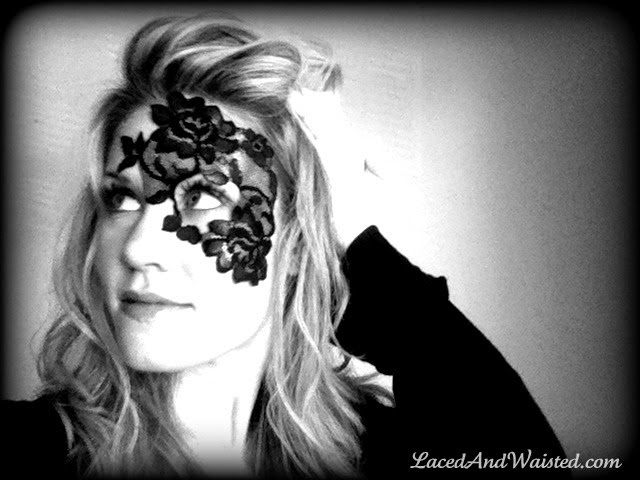 masquerade mask black lace half mask face mask
