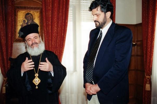 Με τον Μακαριστό Αρχιεπίσκοπο Ελλάδος κ. Χριστόδουλο