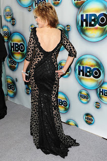 Jane Fonda short blonde layered hairstyle at HBO's post 2012 Golden Awards Party