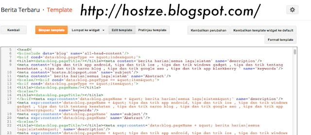 Cara Masang Meta Tag Super Seo Komplit Lengkap Di Blog