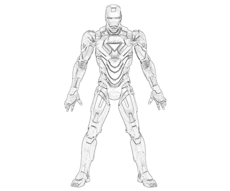 iron man 2 iron man super hero - Iron Man Coloring Pages Mark