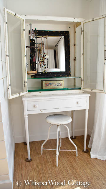 Perfect Sarah Got It Right When She Suggested I Was Using The Vintage Medical  Cabinet In The Bedroom Nook As A Jewelry Holder And Vanity Area!