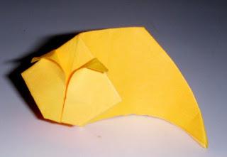 cara membuat origami kucing yang mudah