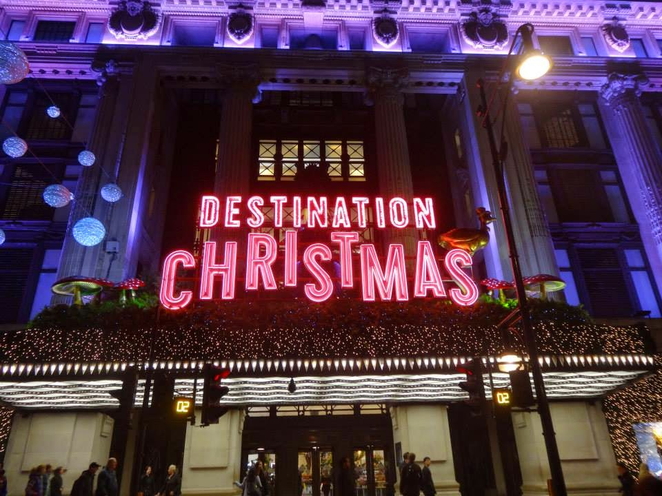 Destination Christmas as Selfridges tempts its customers to get inside it annual Christmas Emporium. Selfridges Magical Enchanted Christmas Shop Window 2014