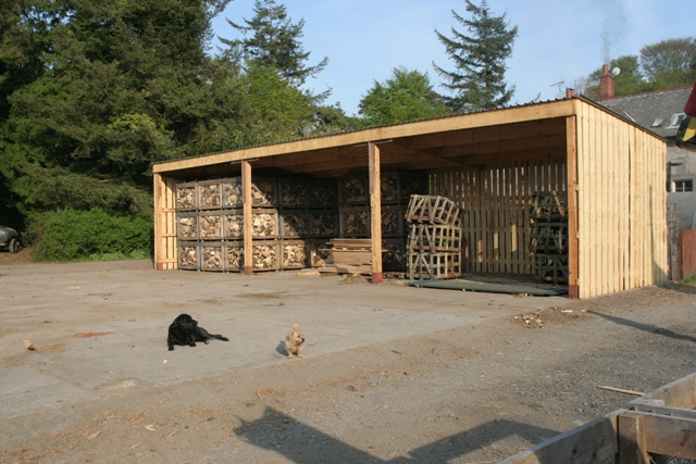 News From Shennanton Sawmill New Firewood Shed Erected