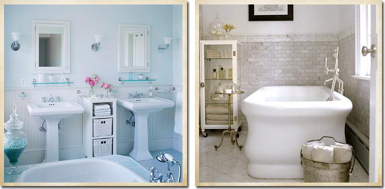 Ispirazione per il bagno   shabby chic interiors