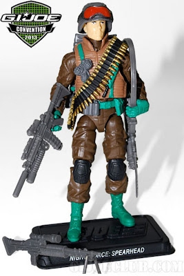 GI Joe 2013 Convention Exclusive Night Force Boxed Set - Spearhead & Max figure