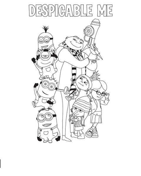 Despicable me coloring pages learn to coloring for Despicable me 2 coloring pages
