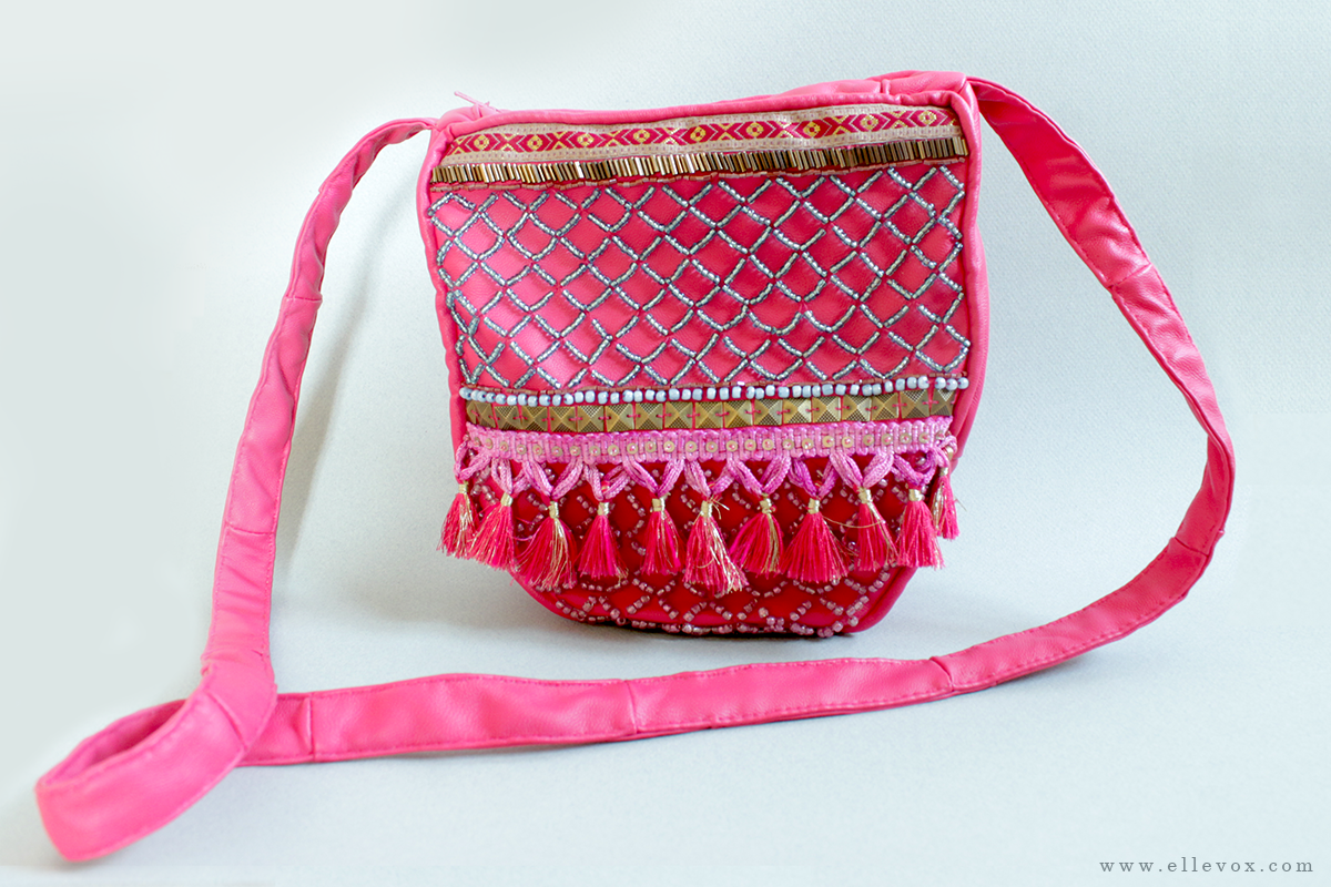 Handmade Indian Embellished Shoulder Bag