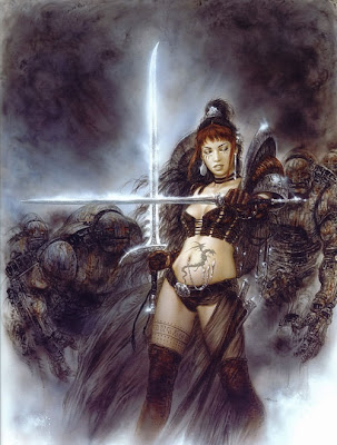 female samurai warrior fantasy women art heavy metal