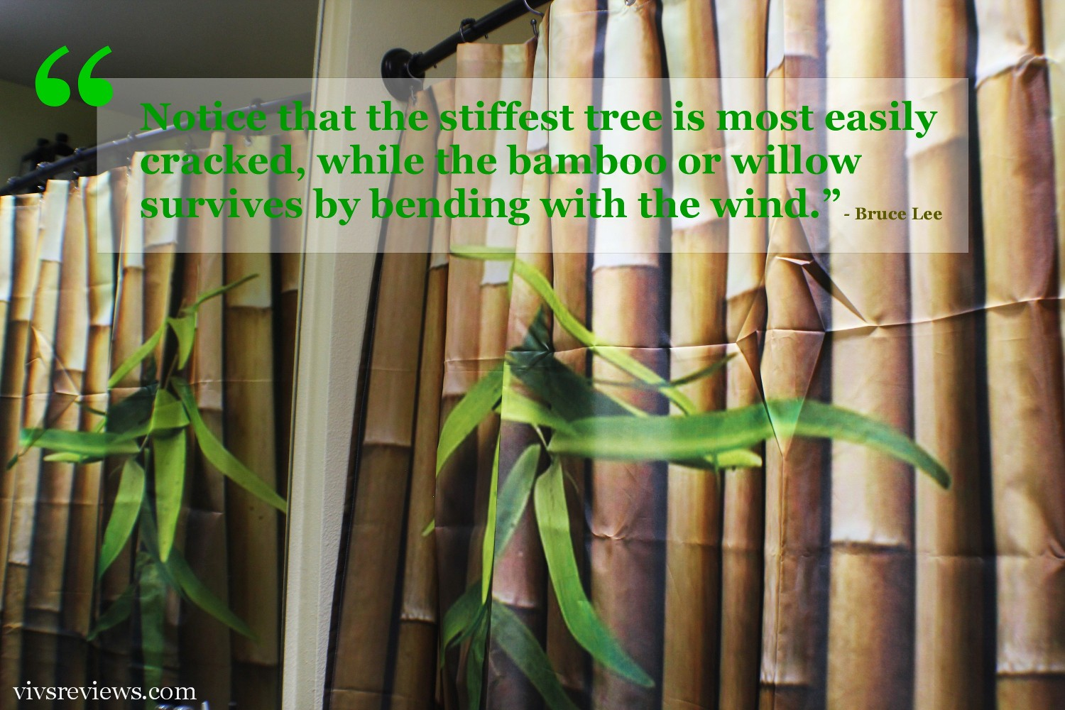 Bamboo shower curtain - This Bamboo Shower Curtain Adds That Nice Asian Feel And Element Of Relaxation To My Bathroom This Goes Well With The Bamboo Accessories