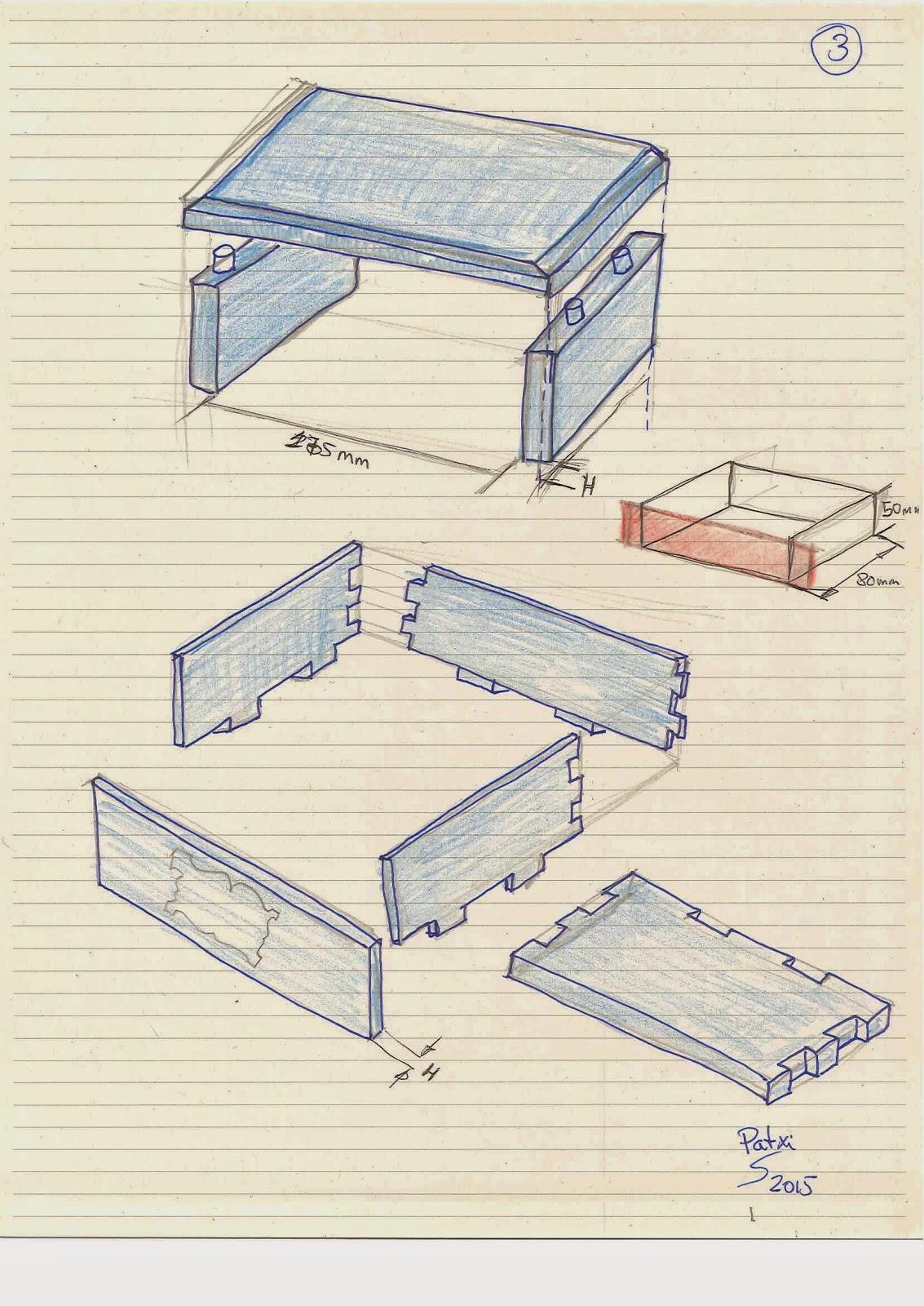Soporte de pipas hecho de madera de palet. Planos.