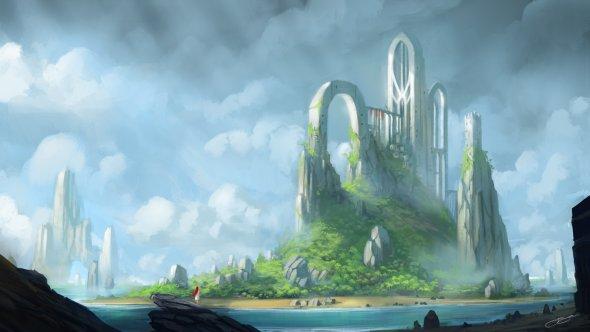 Jorge Jacinto deviantart ilustrações paisagens cenários fantasia ficção científica