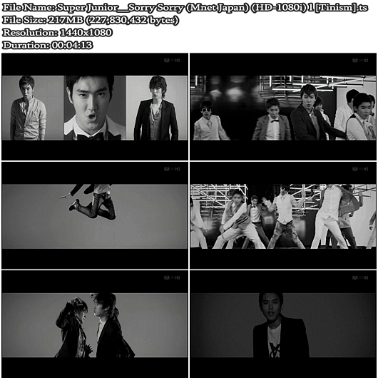 Super Junior - Sorry Sorry (Mnet Japan Full HD 1080i)