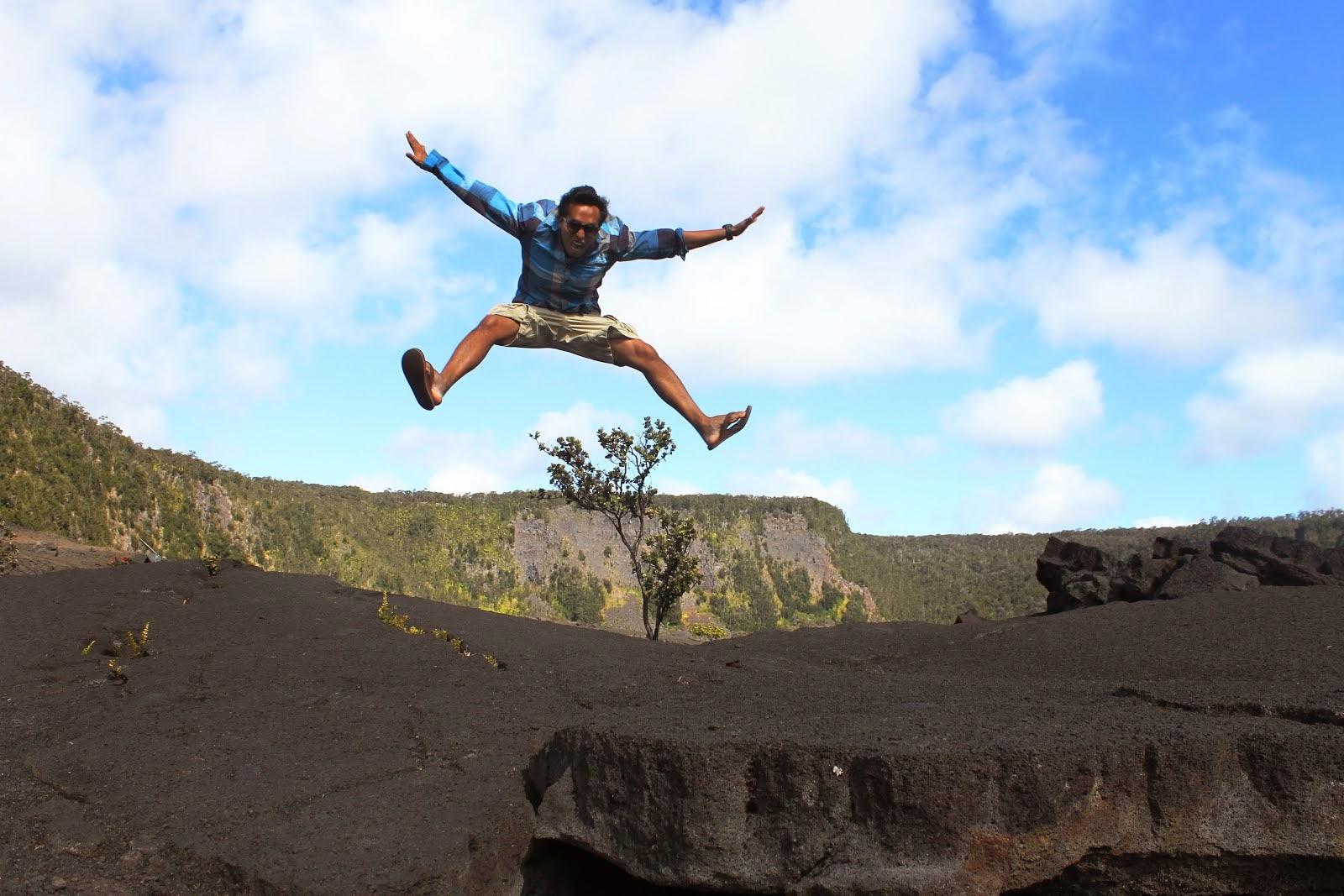 Matt on one of his favorite hikes at Kiluea Iki