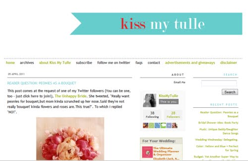 kiss my tulle as a blogspot blog