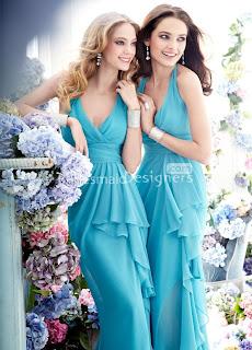 Long Length Bridesmaid Dresses 2013