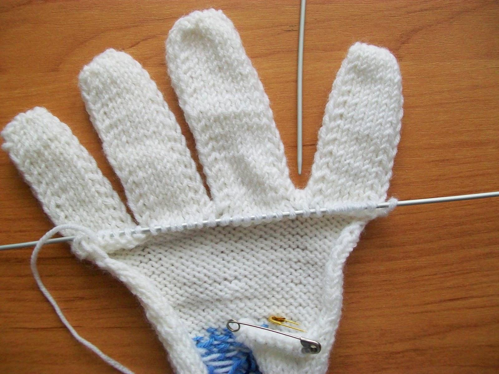 Вязание варежек от пальцев