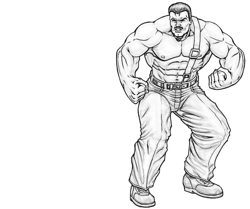 free strong man coloring pages - photo#18