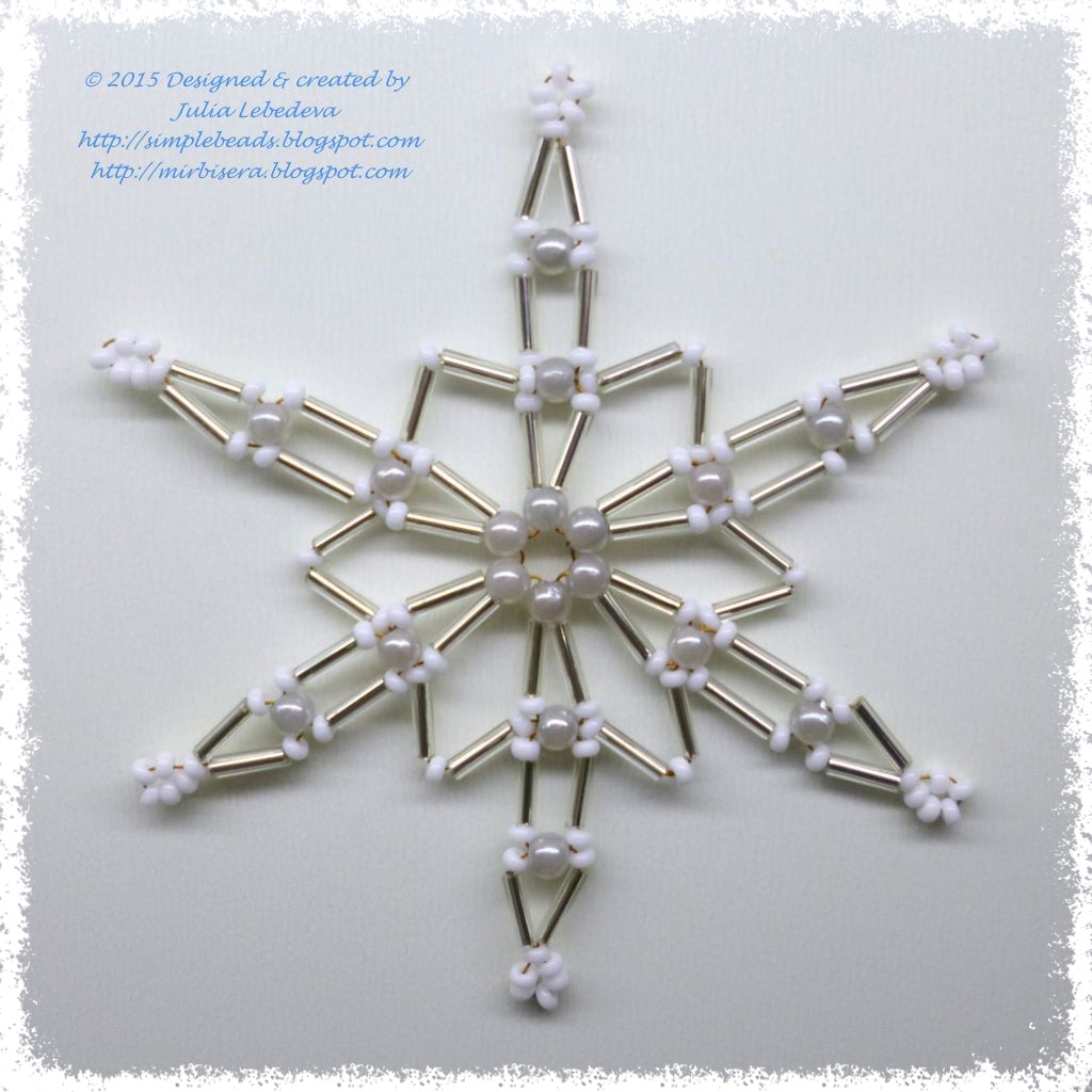 beading for the beginners snowflake of bugle