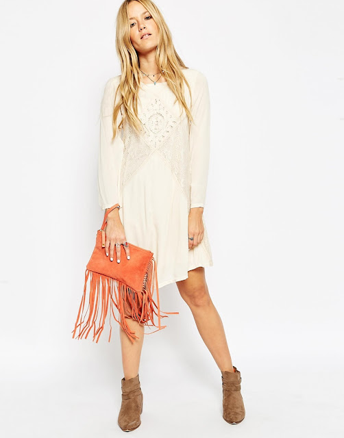 orange suede bag, orange suede tassel bag, suede fringed clutch bag, fringed clutch,
