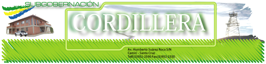 SUBGOBERNACION CORDILLERA