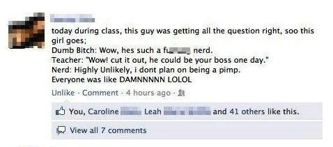 Why You Shouldn't Mess With Nerds - Funny Facebook Status