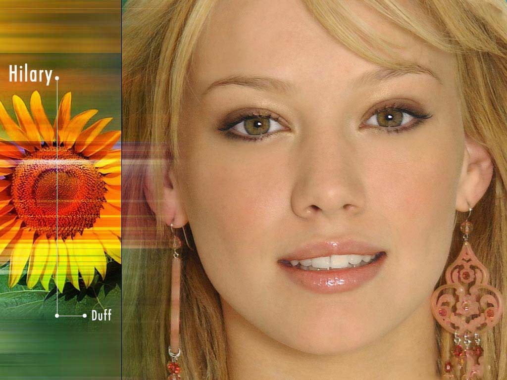 Hilary duff close up and nice eyes wallpapers